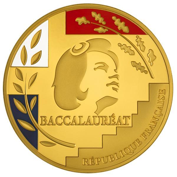 MEDAILLE DU BAC bronze dore à l'or fin