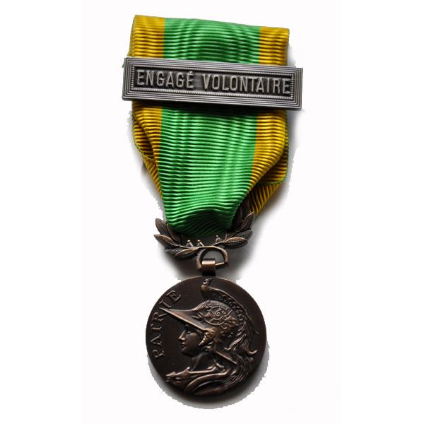 MEDAILLE DES ENGAGES VOLONTAIRES ordonnance