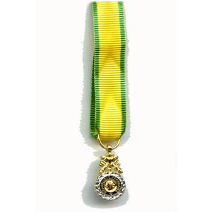 MEDAILLE MILITAIRE reduction miniature bronze argenté