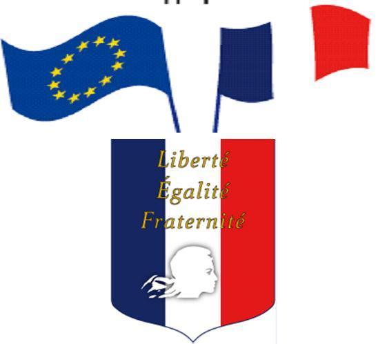 ECUSSON REPUBLICAIN - 2 drapeaux 60x90cm