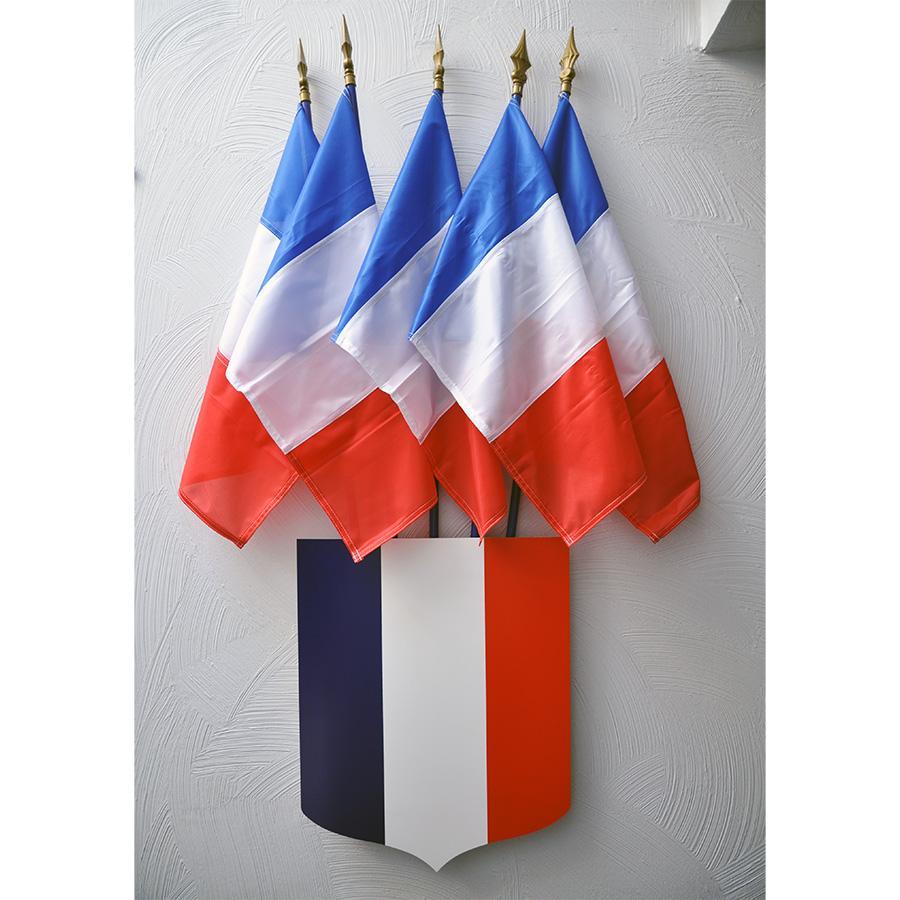 ECUSSON TRICOLORE 40X50CM avec 5 drapeaux france 40x60cm