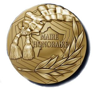 MEDAILLE DE MAIRE HONORAIRE