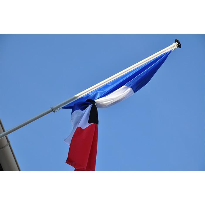 RUBAN DE MISE EN BERNE DE DEUIL NOIR pour drapeau en berne