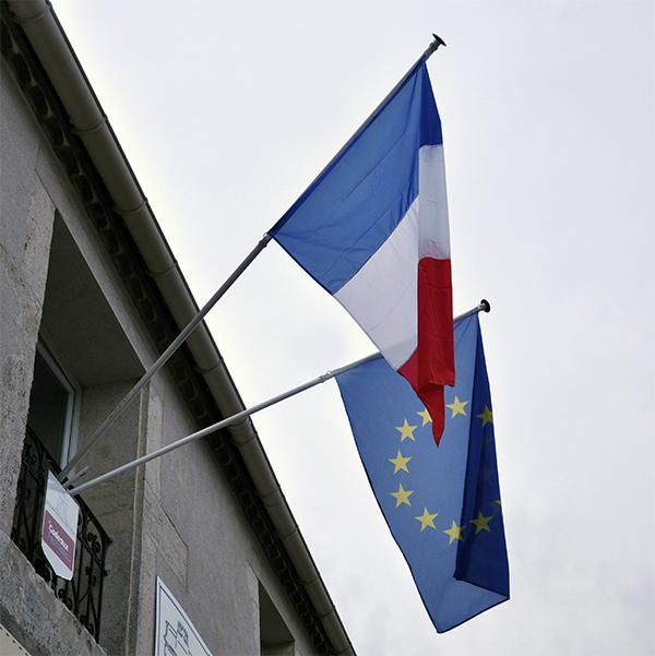 MATS DE FACADE AVEC APPLIQUE MURALE double et 2 drapeaux