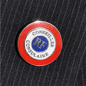 INSIGNE PINS CONSEILLER CONSULAIRE 18mm