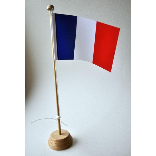 DRAPEAU FRANCE XCM SUR MAT BOIS PORTE DRAPEAU Cm COMPTOIR DU - Mat porte drapeau