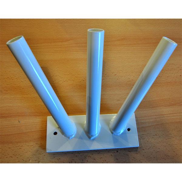 SUPPORT FIXATION MURALE PORTE DRAPEAUX 3 TUBES