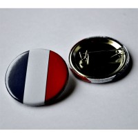 PINS FRANCE TRICOLORE BADGE EPINGLE 25mm