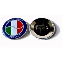 badge epingle france italie