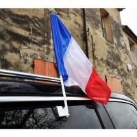 FANION VOITURE FRANCE 30x40cm avec support vitre