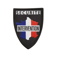 Ecusson soie Tricolore SECURITE INTERVENTION