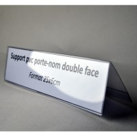 PORTE NOM CHEVALET pvc souple 25x6cm