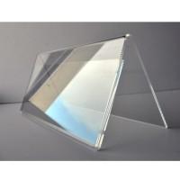 PORTE NOM chevalet plexiglass 30x11cm