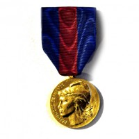 MEDAILLE SERVICES MILITAIRES VOLONTAIRES bronze SVM