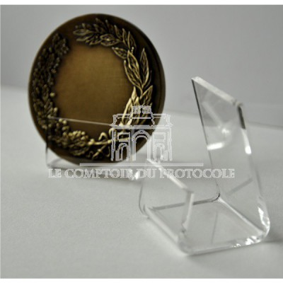 SUPPORT POUR MEDAILLE RONDE PLEXIGLASS