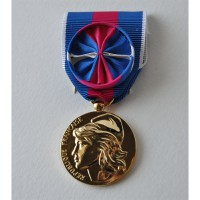 MEDAILLE SERVICES MILITAIRES VOLONTAIRES OR svm