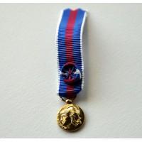 Médaille SERVICES MILITAIRES VOLONTAIRES or miniature smv