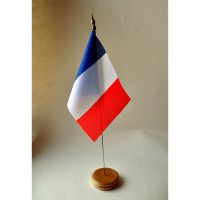 MINI DRAPEAU DE TABLE FRANCE TISSU 10X14CM bis