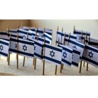 50 DRAPEAUX COCKTAIL 2X3CM - ISRAEL