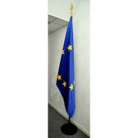 DRAPEAU EUROPE 80x120cm Satin avec socle