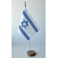 MINI DRAPEAU DE TABLE ISRAEL TISSU 10X14CM