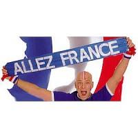 ECHARPE TRICOLORE ALLEZ LA FRANCE