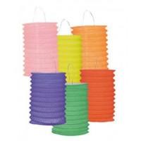 12 Lampions tricolores - 13cm cylindrique