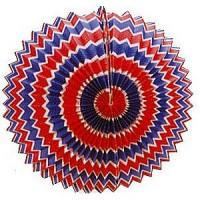 12 Lampions tricolores - 16cm cylindrique