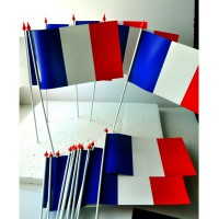 DRAPEAU FRANCE PLASTIQUE 10x16cm lot de 100 ex