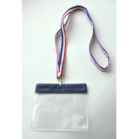ruban tricolore tour de cou porte-badge format CB