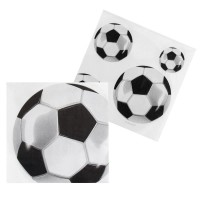 set de 16 serviettes football 30x30cm