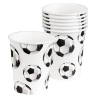 set de 6 gobelets football 25cl