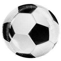 set de 8 assiettes rondes football 23cm
