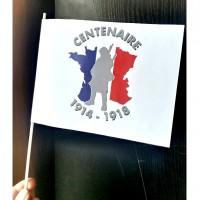 drapeaux papier Centenaire 14-18