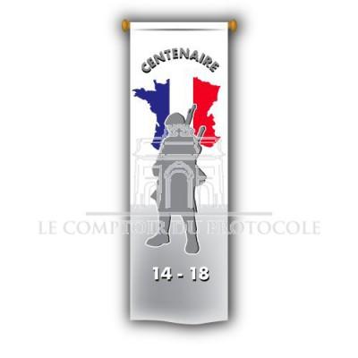 Oriflamme du Centenaire de la Guerre 1914-1918 - 50x200cm