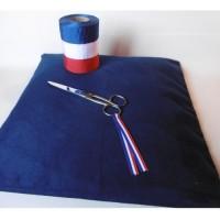 COUSSIN DE CEREMONIE bleu 40x40cm