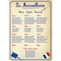 Panneau d'affichage la Marseillaise – PVC - 420x297mm – modèle classique