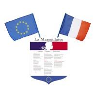 Lot écusson Marseillaise + 2 drapeaux France Europe – modèle moderne