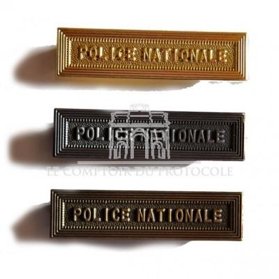 AGRAFE METAL POLICE NATIONALE pour médaille pendante