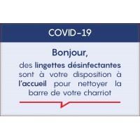 lot de 5 PANNEAUX INFORMATION COVID-19