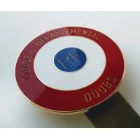 COCARDE CONSEIL DEPARTEMENTAL - métal