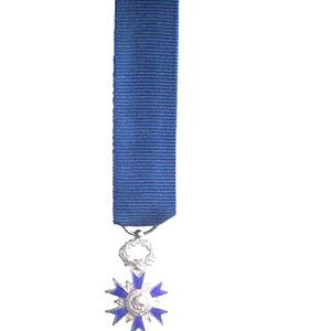 ORDRE NATIONAL DU MERITE CHEVALIER miniature reduction argent