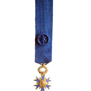 ORDRE NATIONAL DU MERITE OFFICIER miniature argente
