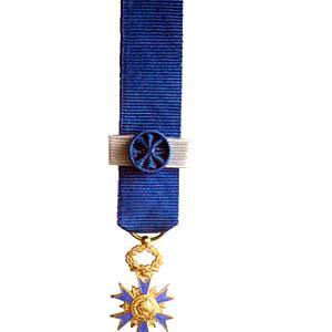 ORDRE NATIONAL DU MERITE COMMANDEUR miniature bronze dore