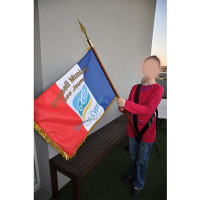 BAUDRIER NOIR porte drapeau UNC