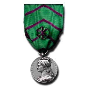 Médaille honneur pénitentiaire argent