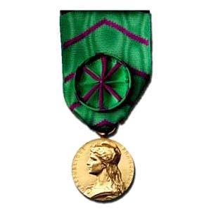 HONNEUR PENITENTIAIRE OR metal bronze dore
