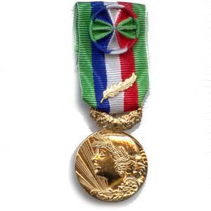 ANCIENNETE AGRICOLE 35 ANS bronze dore