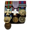 Support tissu porte médailles